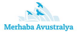 Merhaba Avustralya Logo Migrating birds and the Opera House in Sydney Australia