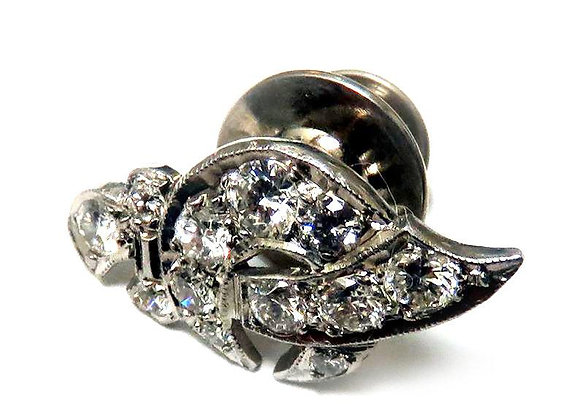 Shriner Pin in 14K White Gold and Genuine High Quality Diamonds.