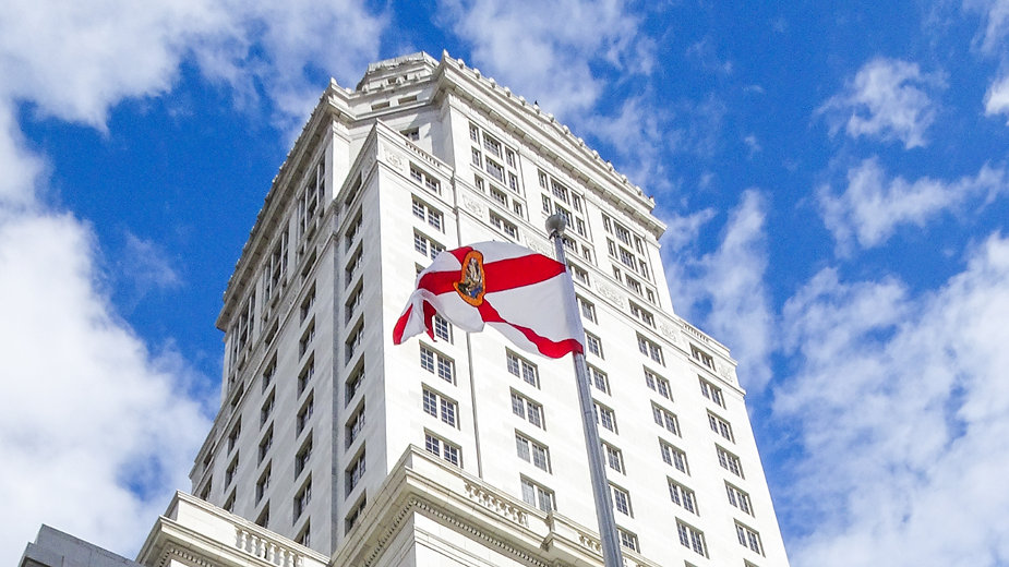 The Miami-Dade County Courthouse was built between 1925 & 1928. At 361ft, and 28 floors, it was the