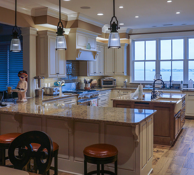 New kitchen overlooking Assawoman Bay