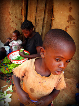 A Tearful Boy Looks Ahead, Zambia
