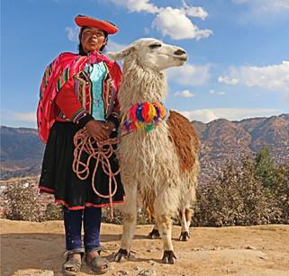 A Woman and Her Llama, Cusco, Peru