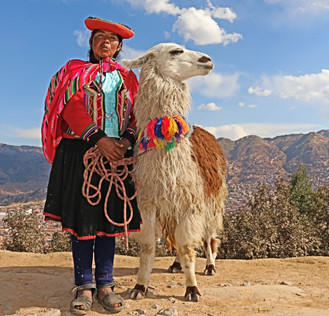 A Woman and Her Llama, Cusco, Peru