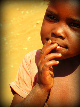 A Village Girl Ponders All, Zambia