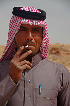 A Sliver of a Cigarette Outside Petra, Jordan