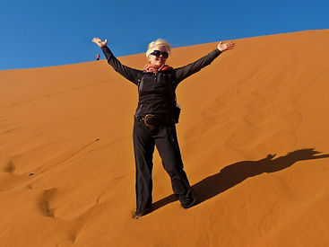 Karen Loftus - Nambia - Red Dunes - Women Adventure Travels