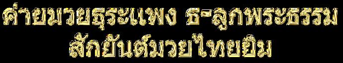 muay thai gymmets thailändska namn