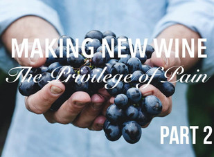 Living Bravely:  Making New Wine Part 2:  The Privilege of Pain