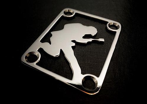 Neck Plate Guitarrista (INOX)