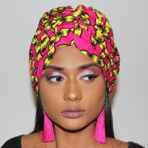 TURBAN ruban rose