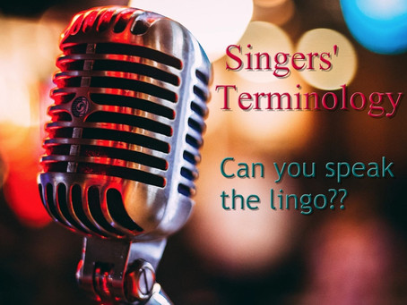 Just Singing with Jo - Singers' Terminology