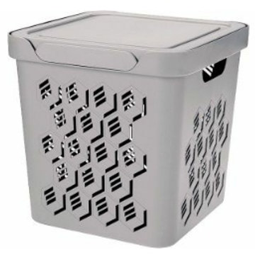 Пластиковый контейнер для хранения 286х286х286 Арт.DELuxe 18-2