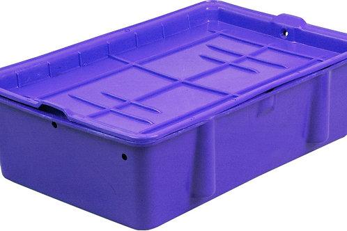 арт. 307 Пластиковый ящик 502х332х150 сырково-творожный с крышкой