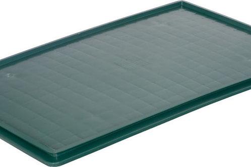 Крышка п/э 740х465 сплошная зеленая для ящика 404