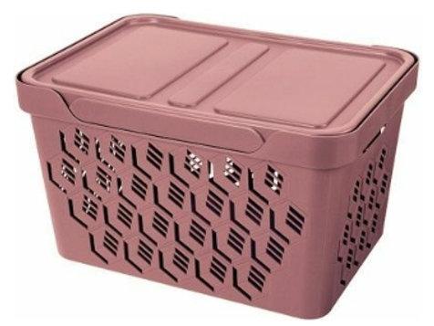 Пластиковый контейнер для хранения 380х276х220 Арт.DELuxe 18