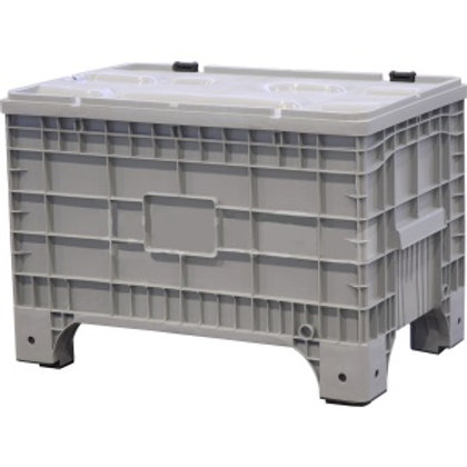 Арт. B-Box 1065 Mini Big Box 1017х636х673 мм на ножках с крышкой на петлях серый