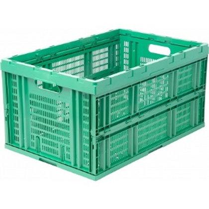 арт. 407 Пластиковый ящик 600*400*310 складной, перфорированный