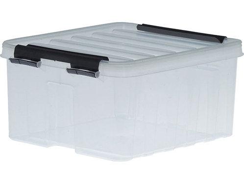 арт. Rox Box 2.5 Ящик п/п 210х170х95 мм с крышкой и клипсами прозрачный