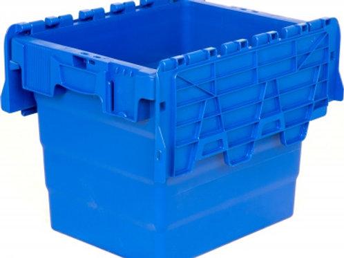 арт. SPKM 4332 Пластиковый ящик 300х400х320 сплошной синий с крышкой