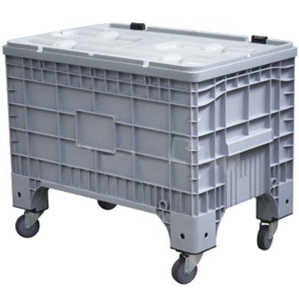 Арт. B-Box 1065 Mini Big Box 1017х636х793 мм на колёсах с крышкой на петлях серы