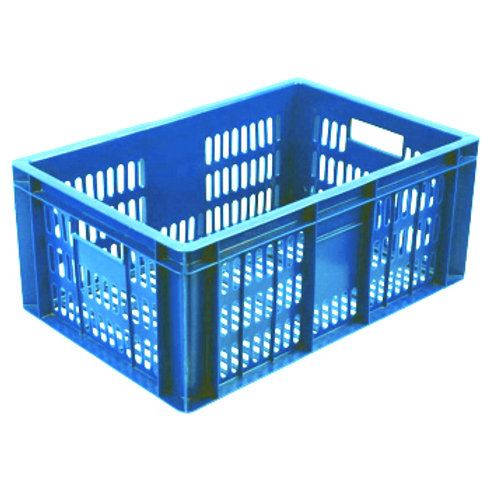 арт. 201 Пластиковый ящик 600x400x250 голубой