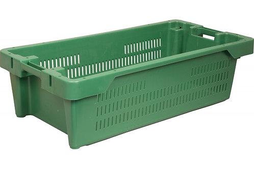 арт. 211-1 Пластиковый ящик 800х400х225 рыбный перфорированный, сплошное дно