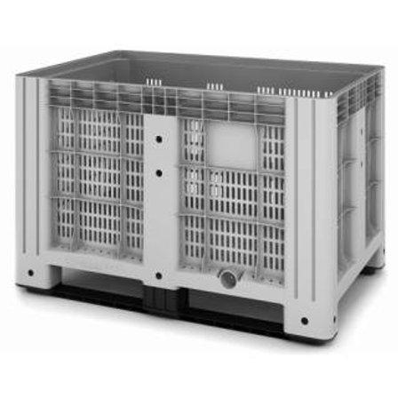 Арт. SDBOX 1208 PS Контейнер 1200х800х800 перфорированный серый на ножках
