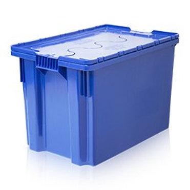 арт. 603-1 SP Ящик с крышкой 600х400х350 сплошной, синий морозостойкий Safe PRO