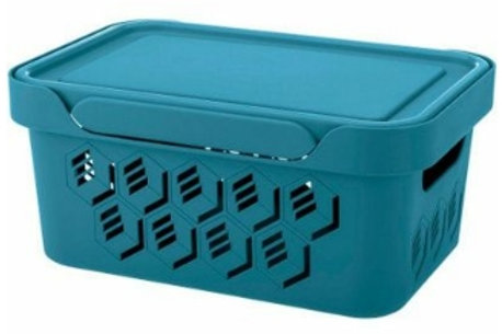 Пластиковый контейнер для хранения 270х190х120 Арт.DELuxe 4,6