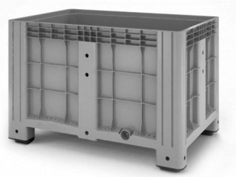 Арт.  SDBOX 1208 S Контейнер 1200х800х800 мм сплошной серый на ножках