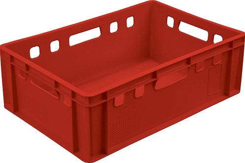 арт. 207 гд Пластиковый ящик 600х400х200 мясной Е2 с гладким дном