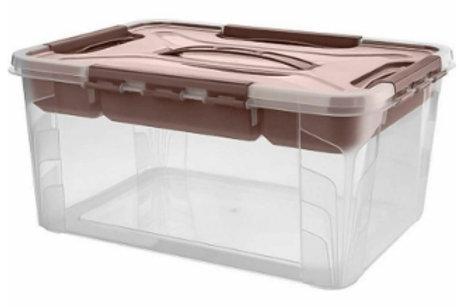 Пластиковый контейнер для хранения 390х290х180 Арт.GRAND BOX 15,3-2