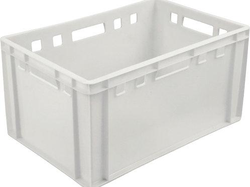 арт. 210-1 Пластиковый ящик 600х400х300 мясной Е3 белый морозостойкий 3 кг