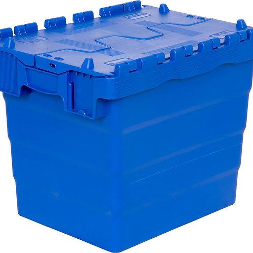 арт. SPKM 4336 Пластиковый ящик 300х400х365 сплошной синий с крышкой
