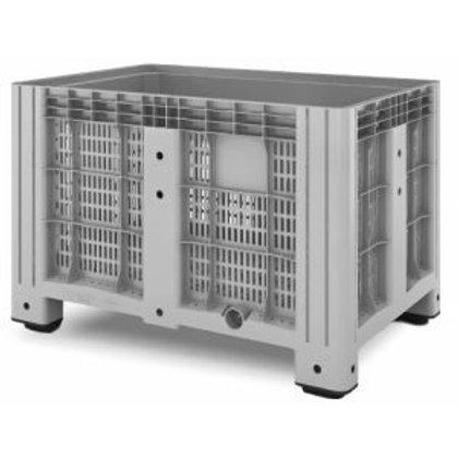 Арт. SDBOX 1208 P Контейнер 1200х800х800 перфорированный серый на ножках