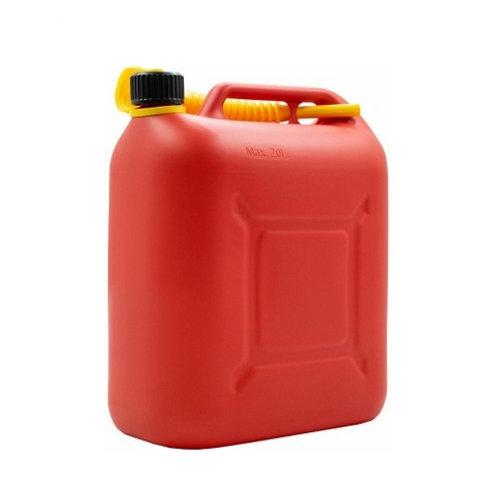 Пластиковая канистра для топлива 20 л КП-ГСМ 20 красная