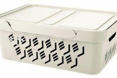 Пластиковый контейнер для хранения 380х276х140 Арт.DELuxe 12