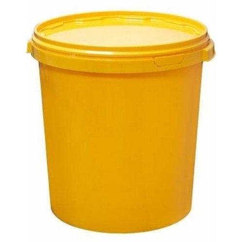 Ведро-бак желтое 30л с крышкой ВП 30
