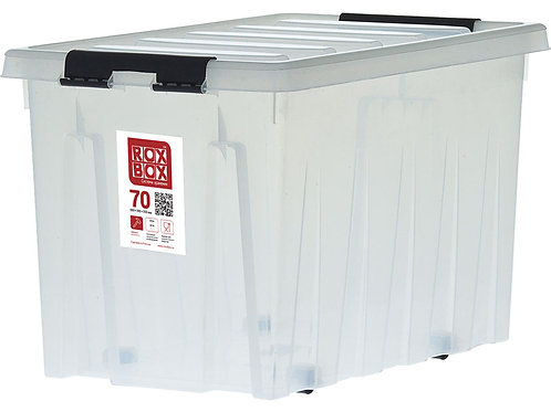 арт. Rox Box 70 Ящик п/п 600х400х360 мм с крышкой и клипсами, на роликах