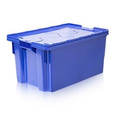 арт. 601-1 SP Ящик с крышкой 600х400х300 сплошной, синий морозостойкий Saf