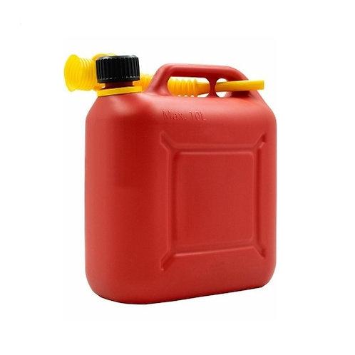 Пластиковая канистра для топлива 10 л КП-ГСМ 10 красная