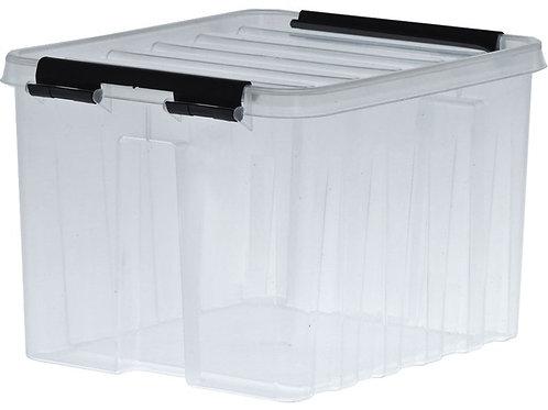 арт. Rox Box 3.5 Ящик п/п 210х170х140 мм с крышкой и клипсами прозрачный