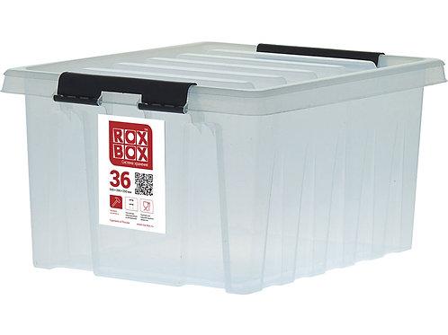 арт. Rox Box 36 Ящик п/п 500х390х250 мм с крышкой и клипсами