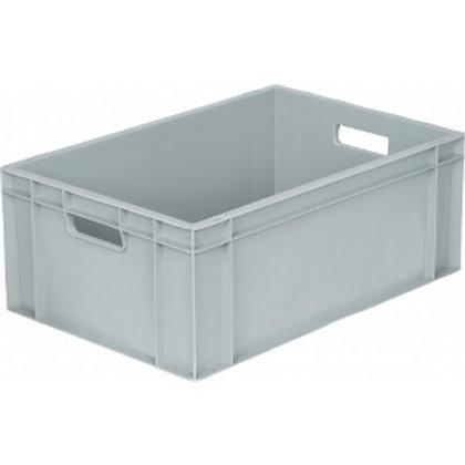 арт. 809 Пластиковый ящик 600х400х230 дно с усилением, серый B-4622