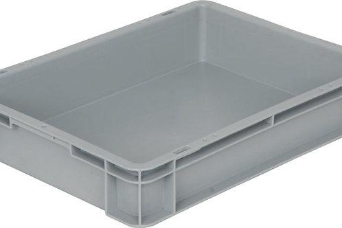 арт. 802 Пластиковый ящик 400х300х75 серый B-4375, морозостойкий