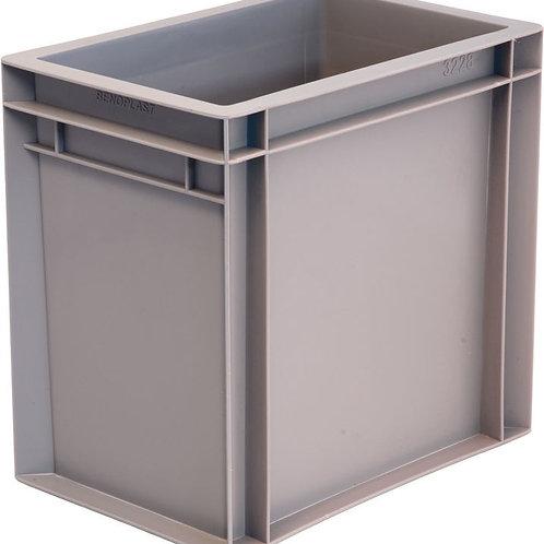 арт. 801 Пластиковый ящик 300х200х290 без ручек, серый B-3228