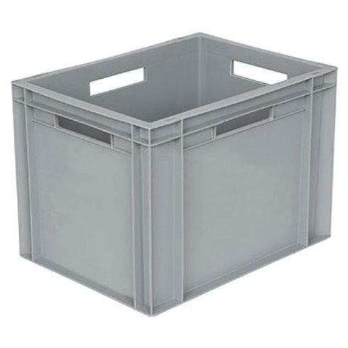 арт. 806 Пластиковый ящик 400х300х290 с ручками, серый B-4328