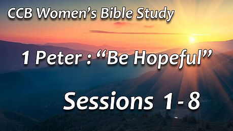 Women's Bible Study fall 2020 Sessions 1
