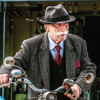 Greek Man & Bicycle