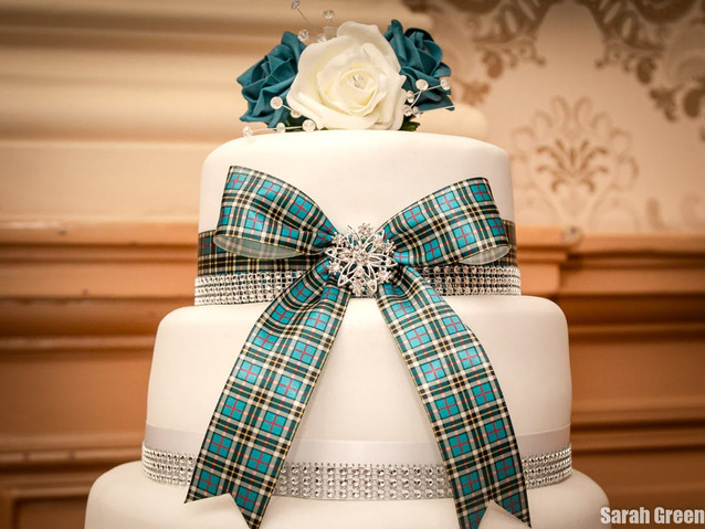 Julie & George's Scottish Themed Wedding Cake